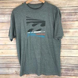 Billabong Beach Surf Wave Gray Tee Shirt